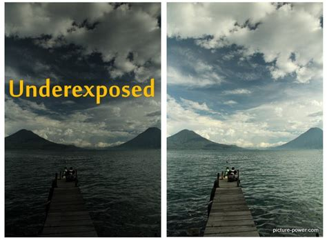 Underexposed  Digital Photography Terms