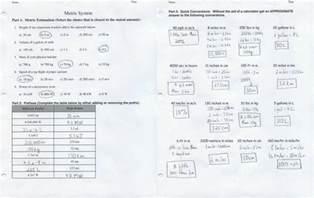 Unit Metric System Conversions