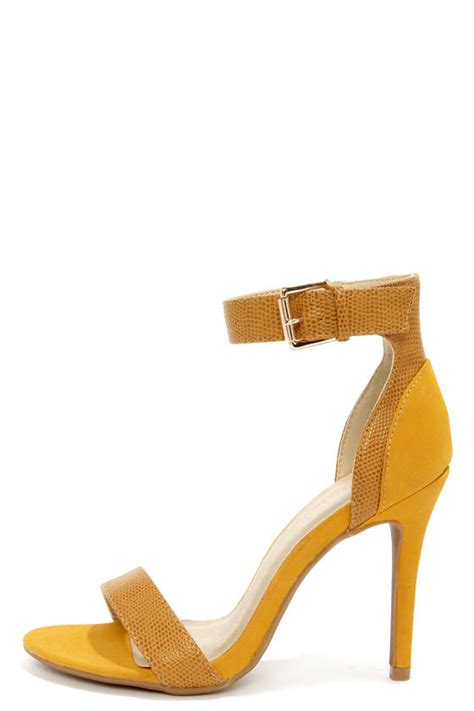 chagne colored wedges yellow heels high heels ankle heels 33 00