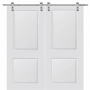 milliken millwork 60 in x 80 in primed cambridge smooth With 60 barn door hardware