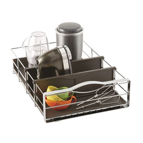 kitchen cabinet organizers pull out simplehuman 14 quot pull out cabinet organizer the container