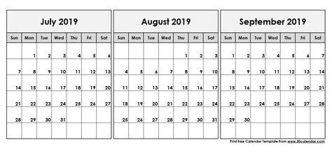 print calendar july august september ten printable calendar