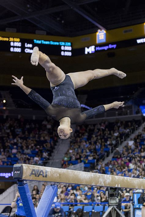 ucla gymnastics stumbles  pac  championship earns  place daily bruin