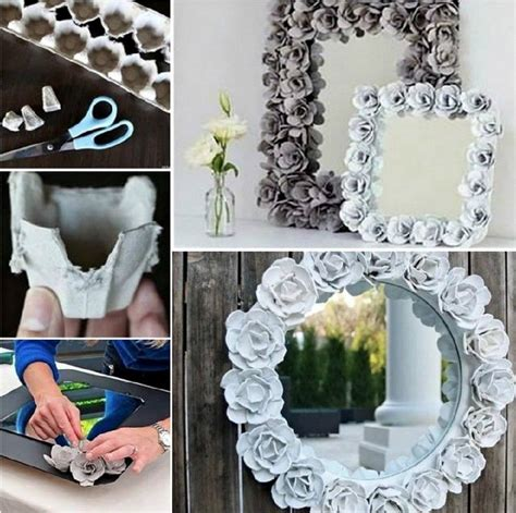 easy diy egg carton mirror pictures   images