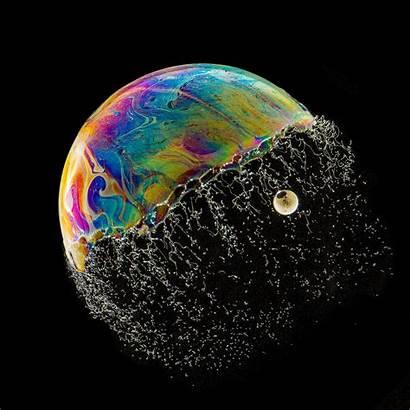 Bubbles Bursting Soap Bubble Psychedelic Burst Speed