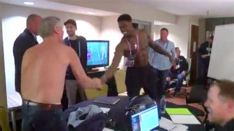 dk metcalf explains   ended    shirtless
