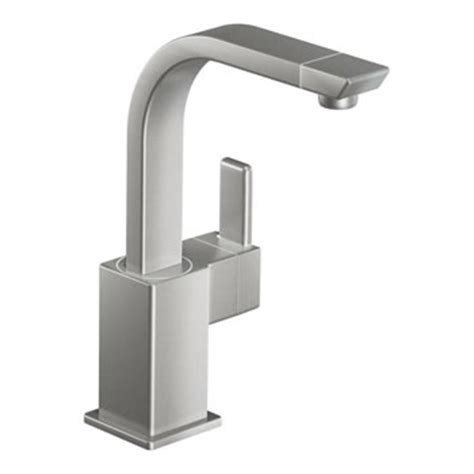 moen s5170csl 90 degree single handle high arc single mount bar faucet classic stainless