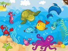Gambar Pemandangan Dalam Laut Kartun Gambar Pemandangan