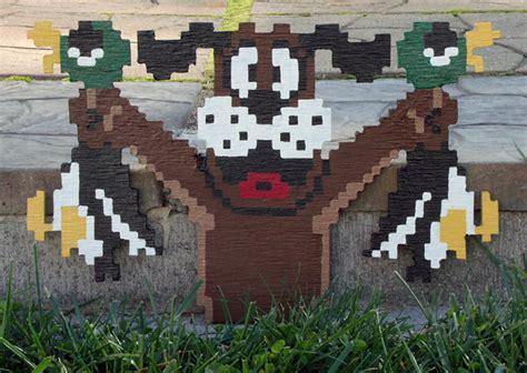 Nintendo NES 8 Bit 3D Wooden Pixel Art   The Green Head