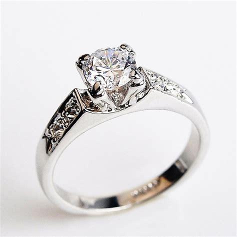 Womens Sterling Silver Diamond Rings
