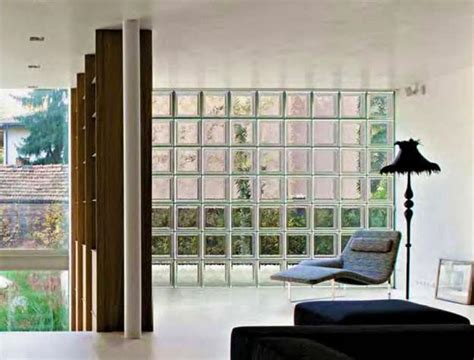 glass blocks adding sparkling accents  modern home designs