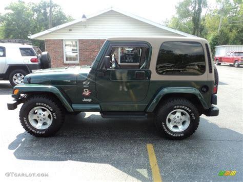 dark green jeep 2001 forest green jeep wrangler sahara 4x4 53117612