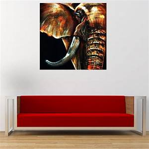 50x50cm modern abstract huge elephant wall art decor oil With wall decor paintings