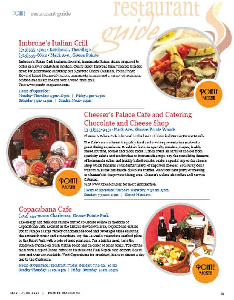 resto bureau restaurant guide grosse pointe magazine