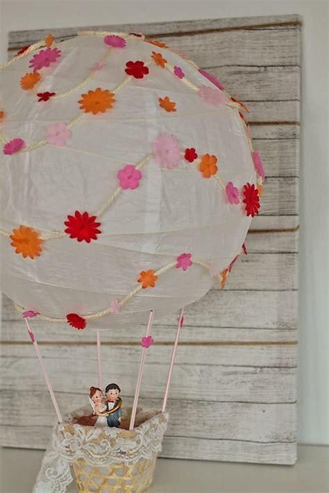 geldgeschenk heissluftballon basteln zur hochzeit diy