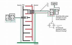Wiring For Shop  240v With Light Switch On Same Circuit