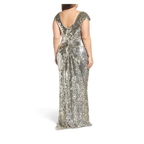 Free shipping on orders $89+. Mac Duggal Couture Platinum Gold Sequin Plunging V Neck ...