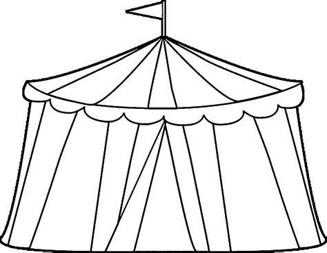 Circustent Kleurplaat by Circus Tent Coloring Pages