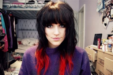 25 Groovy Black Hair With Red Highlights Pictures