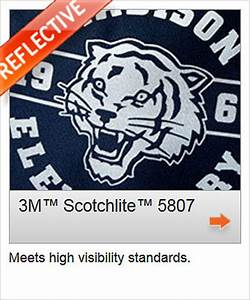 3m 5807 scotchlite reflective With 3m reflective letters for clothing