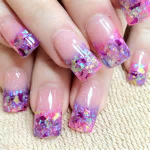 Acrylic paint nail art designs folk styles