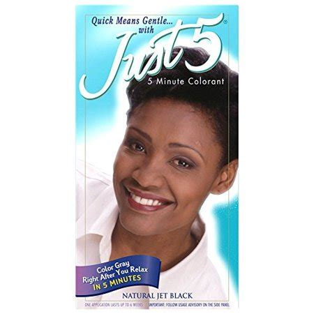 just 5 hair color just 5 s hair color jet black walmart