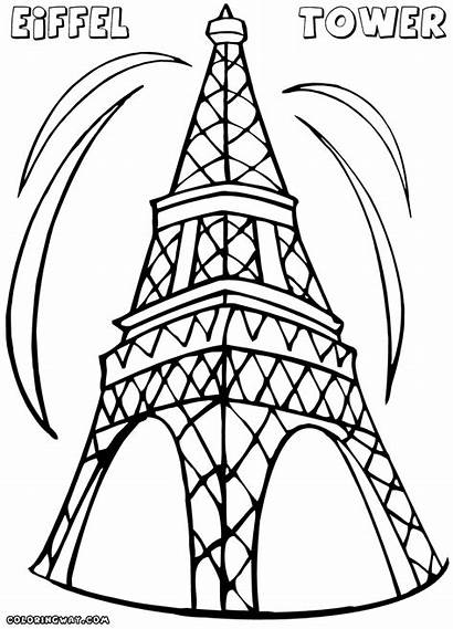 Tower Eiffel Coloring Pages