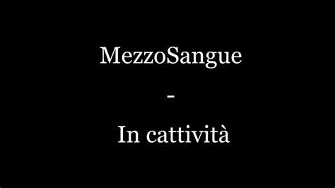mezzosangue testo mezzosangue in cattivit 224 testo
