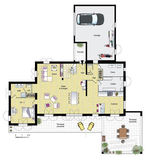 construire un ilot central cuisine grande villa provençale dé du plan de grande villa