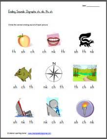Ending Sounds Digraphs Ch, Nk, Th, Sh  Kindergarten, Phonics And Homeschool