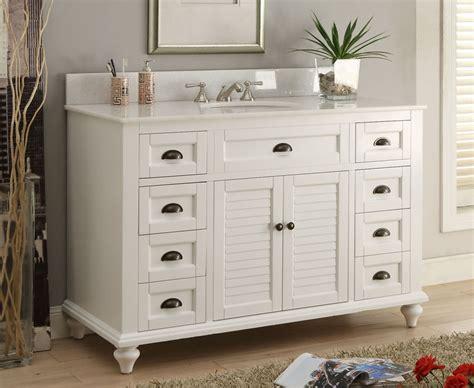 Cottage Style Bathroom Vanities Cabinets by 49 Inch Shutter Bathroom Vanity Cottage Coastal