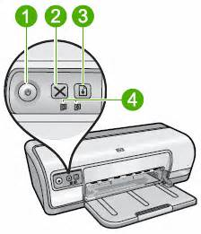 Where Is The Resume Button On Hp Printer by Blinking Lights On The Hp Deskjet D2500 Printer Series
