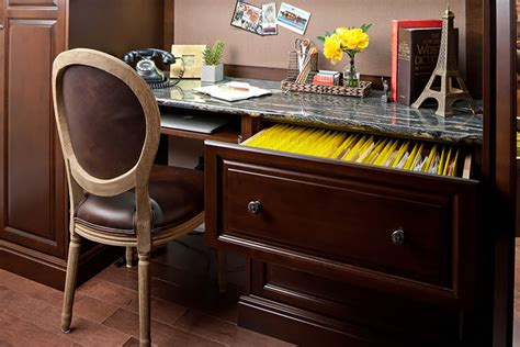 stand alone desk drawers home office with built in cabinets