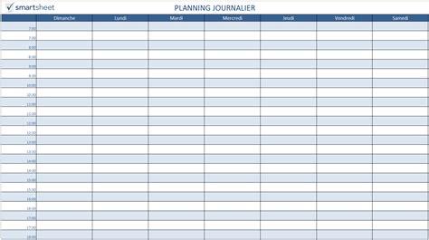 modèle de planning de travail mod 232 les de planification gratuits pour excel