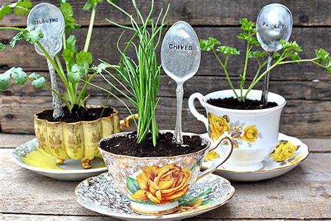 flower mug spoon diy sted spoon plant markers