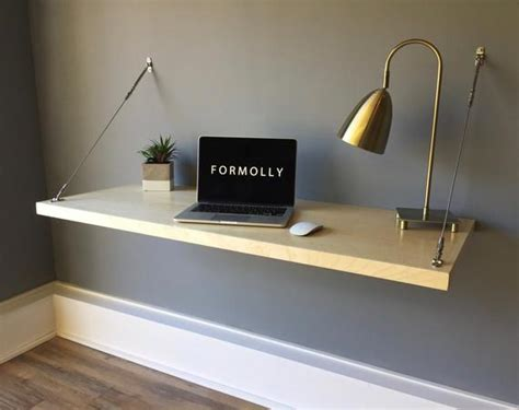 wall mounted floating desk maple