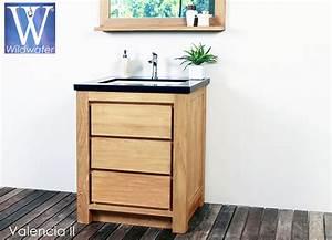 Meuble de salle de bain en teck massif collection wildwater for Meuble salle de bain bois 70 cm