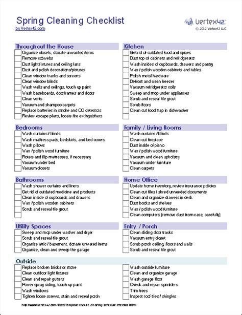 shower door sweep cleaning checklist template