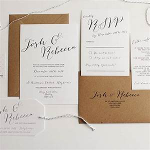 elegant calligraphy wedding invitation by pear paper co With calligraphy on wedding invitations do it yourself