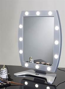 Miroir Lumineux Maquillage Avec 12 Points Lumire Cantoni