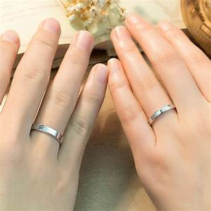 love forever engraved promise rings for couples With forever wedding rings