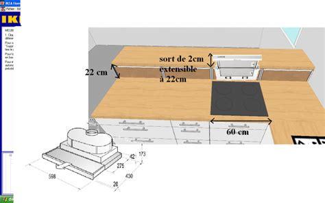 installation plan de travail cuisine astuce réalisable hotte dans plan de travail pas cher