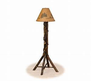 Hickory ridge rustic floor lamp farmhouse and cottage for Rustic floor reading lamp