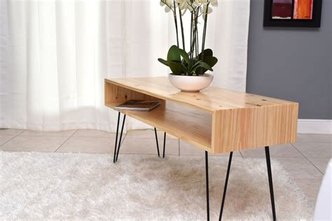 coffee table  hairpin legs