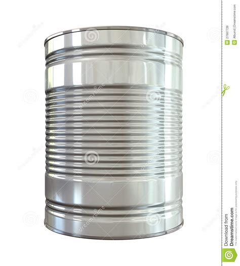 tin can front royalty free stock images image 27687739