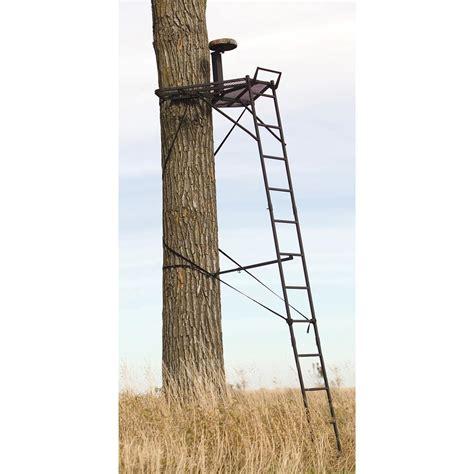 15 big game 174 swivel seat ladder stand 158524 ladder