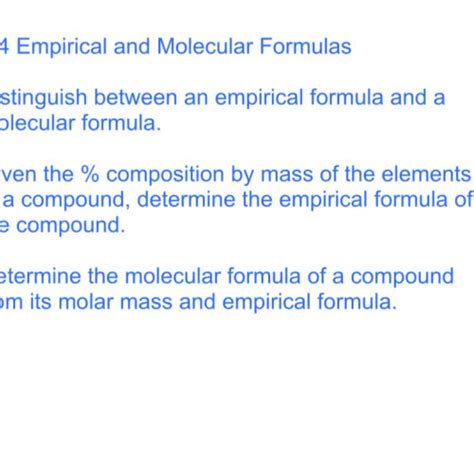 64 Empirical And Molecular Formulas