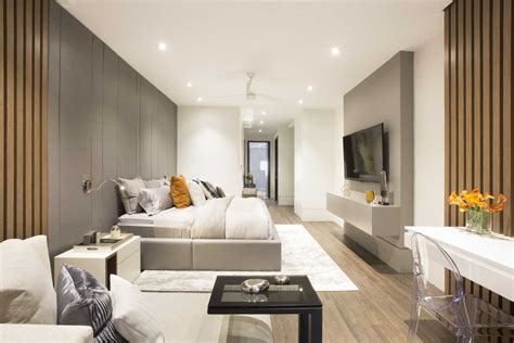 contemporary twilight residential interior design