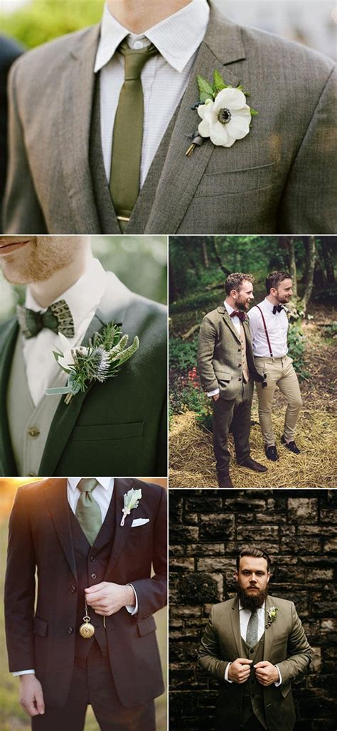 gorgeous olive green wedding color ideas
