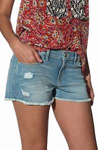 Frame Denim Cut Off Jean Shorts in Green   Lyst